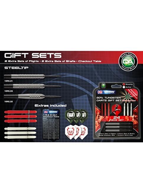 Winmau Gift Sets %80 Tungsten Çelik Uçlu Dart-25 Gram Renkli